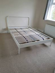 contemporary ikea double bed with upgraded slats in ballygowan