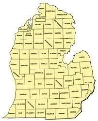 peninsula michigan map map of lower michigan michigan map