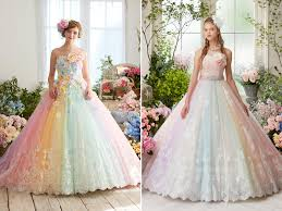 wedding dress colors 27 princess worthy wedding dresses featuring pastel color