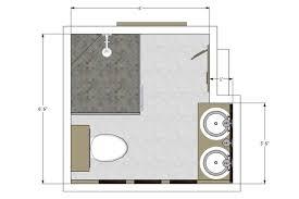 elegant small bathroom floor plans with maximal features designing