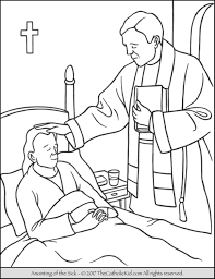 coloring page sick coloring pages sacrament anointing page sick
