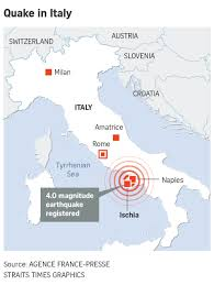 Ischia Italy Map by Two Dead Children Trapped After Quake Hits Italy Holiday Island