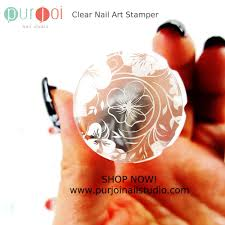 frosted clear nail stamper 2 8 cm u2013 purjoi nail studio