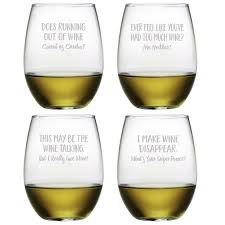 Wine Glasses Susquehanna Glass 4 Piece Uncorked 21 Oz Stemless Wine Glass Set