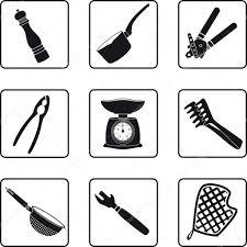 fourniture de cuisine fournitures de cuisine image vectorielle mannaggia 3902512