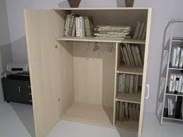 armoire basse chambre armoire mi haute portes battantes avec penderie l100 h159