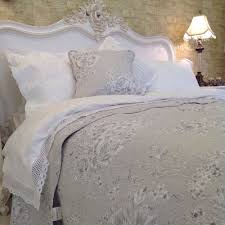 lx white lace edged cotton vintage french country duvet set
