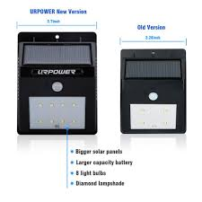 Led Outdoor Sensor Light Motion by Amazon Com Urpower Solar Lights 8 Led Wireless Waterproof Motion