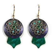 jody coyote earrings jody coyote earrings carnival collection green purple qn279 01 ebay