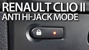 how to enable auto locking central lock anti hijack renault clio