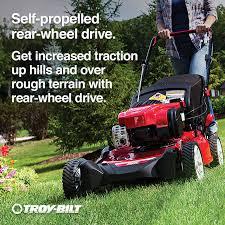 shop troy bilt tb320 150cc 21 in self propelled rear wheel drive