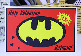 batman valentines card holy batman card boys card