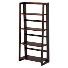 Bookshelves Cherry by Bookshelf For Office Linon Dolce 4 Shelf Folding Bookcase Dark