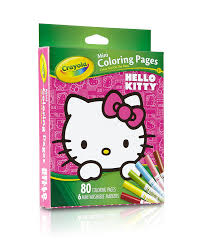 amazon com crayola hello kitty mini coloring pages no toys u0026 games