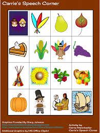 free thanksgiving bingo cards carrie u0027s speech corner thanksgiving freebie
