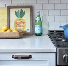 subway tile backsplash modern white cabinets with stainless