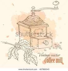 coffee grinder beans glass jar vector stock vector 272822744