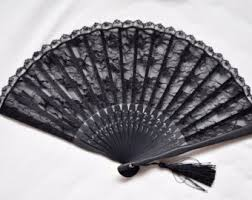 lace fans black lace fan etsy