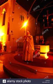 vigil lights catholic church lighting the paschal candle at easter vigil at st josephs catholic