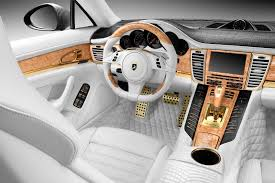 porsche inside porsche stingray gtr with crocodile and gold interior topcar