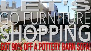 Shop Pottery Barn Outlet Shop With Me Got 90 Off A Sofa Furniture Shopping At The