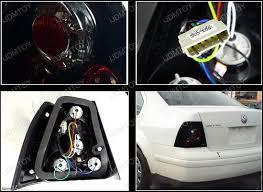 vw led tail lights 99 04 volkswagen jetta black housing smoke lens led tail lights