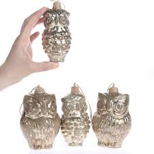 owl ornaments mercury glass owl ornaments christmas ornaments christmas and