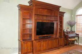 Built In Bookcases With Tv Built In Tv Wall Furniture Open Plans Built In Wall White