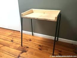 petit bureau noir bureau bois et noir bureau bois metal en industriel mactal noir