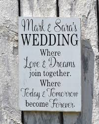 rustic wedding sign welcome personalized signs for weddings