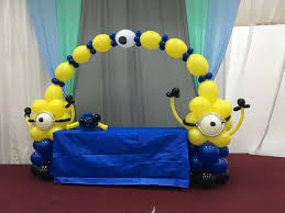 Despicable Me Decorations How To Minion Balloon Decoration Arch Column Centerpiece Tutorial
