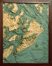 custom wood charts of from carved lake nautical