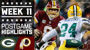nfl thanksgiving schedule 2012 packers vs redskins nfl week 11 game highlights youtube