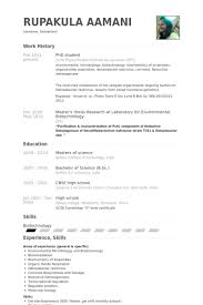 Microbiologist Resume Sample by Phd Student Resume Samples Visualcv Resume Samples Database