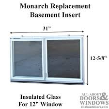 c 310a 12 aluminum basement window insert dual pane glass