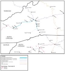 Greenville Nc Map Blue Ridge Southern Railroad Blu Watco Companies