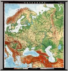 East Europe Map by Eastern Europe Physical David Rumsey Historical Map Collection