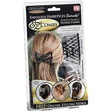 ez combs combo hair styling bands as seen on tv