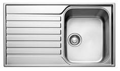 B Q Kitchen Sinks Swirl 1 Bowl Polished Steel Sink Drainer Departments Diy At