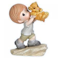 boy with king cub precious moments disney figurine 121037