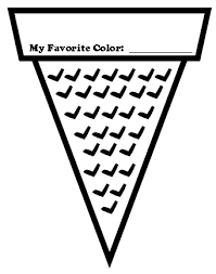 coloring page cone cone colour template printable sign
