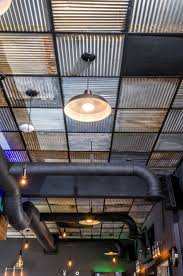 Interior Corrugated Metal Wall Panels Ideas Great Idea To Using Corrugated Tin Ceiling For Your Home