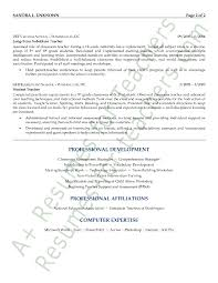 Substitute Teacher Job Description For Resume Substitute Resume Sle Exle 28 Images Substitute Description