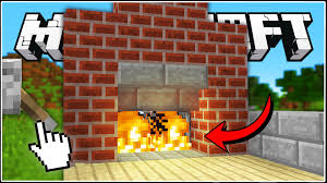minecraft how to build a secret fireplace entrance youtube