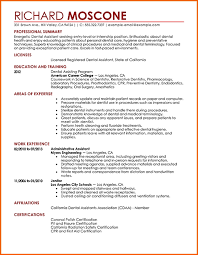Dental Hygienist Sample Resume by Sample Resume For Dental Assistant Jennywashere Com