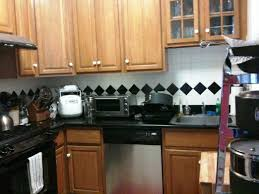 simple black and white kitchen backsplash marissa kay home ideas