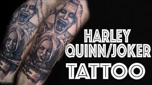 tattoo pictures joker harley quinn and joker tattoo time lapse youtube