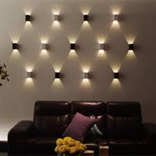 agptek modern 3w led square wall lamp hall porch walkway living