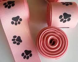 paw print ribbon paw print ribbon etsy