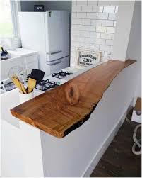 plan de travail cuisine bois brut ilot bar cuisine plan de travail bois brut meuble bas blanc